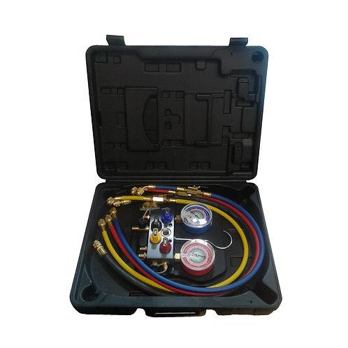 HVAC Manifold R410A, R22, R404A Aluminium 4 Way 96236-EB-413