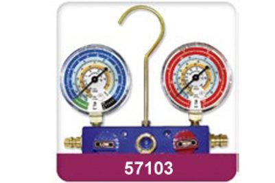 Tools HVAC Manifold - 2 Way with gauges only (Aluminium) 57103