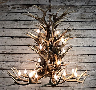 Large Elk Chandelier
