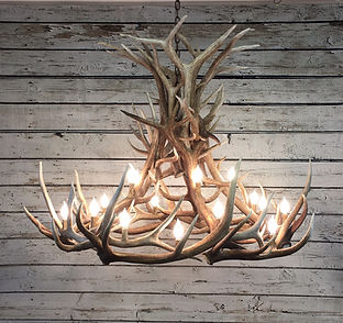 Elk Chandelier, custom antler chandelier, antler lighting, large elk chandelier, mountain home lighting, rustic lighting, large antler chandelier