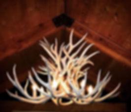 Weathered Wild Ridge Mule Deer Chandelie