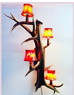 elk sconce, elk light, elk antler sconce