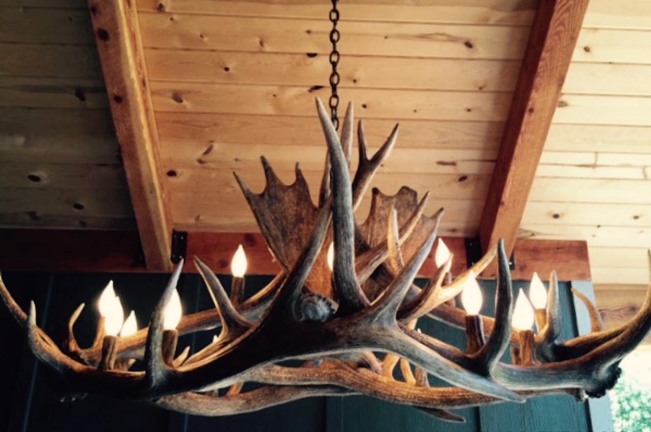 Long Ridge Elk Chandelier