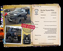 Case File 30 Toyota hilux truck