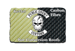 VW Bar conversion roof logo