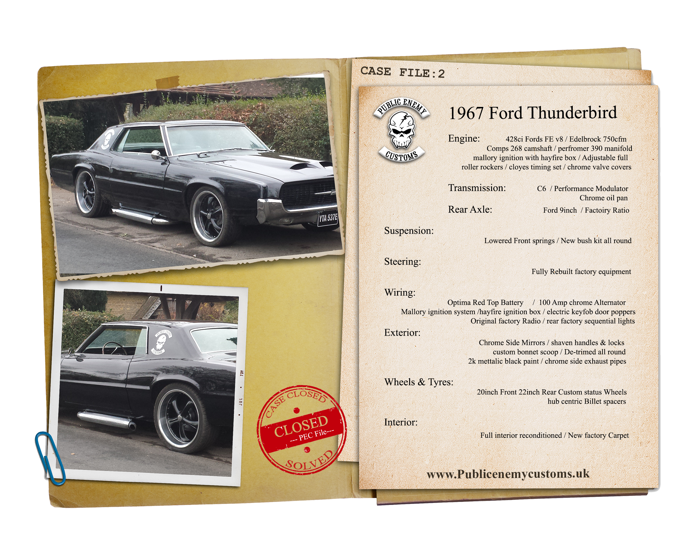 1967 Ford Thunderbird Case File 2