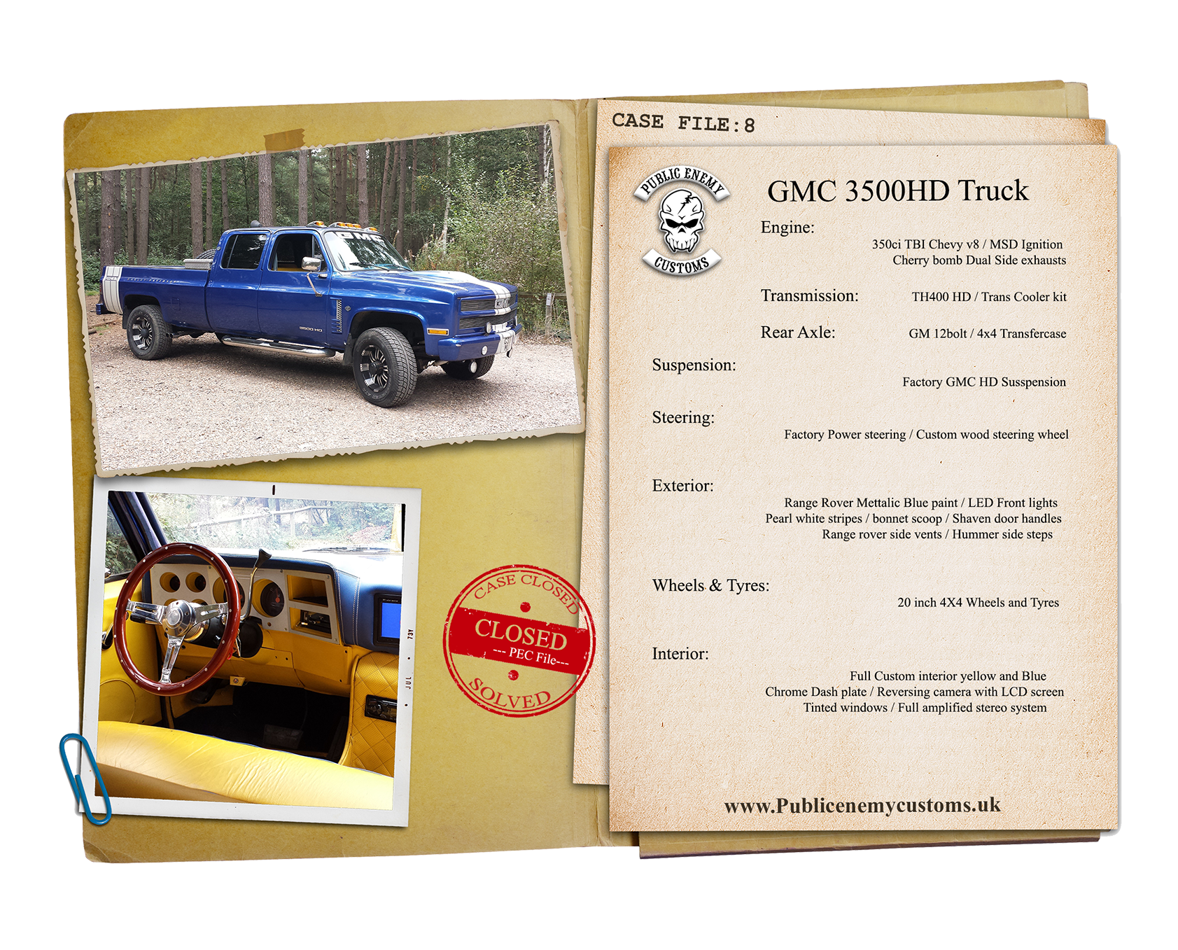 GMC 3500HD Blue Truck Case file small