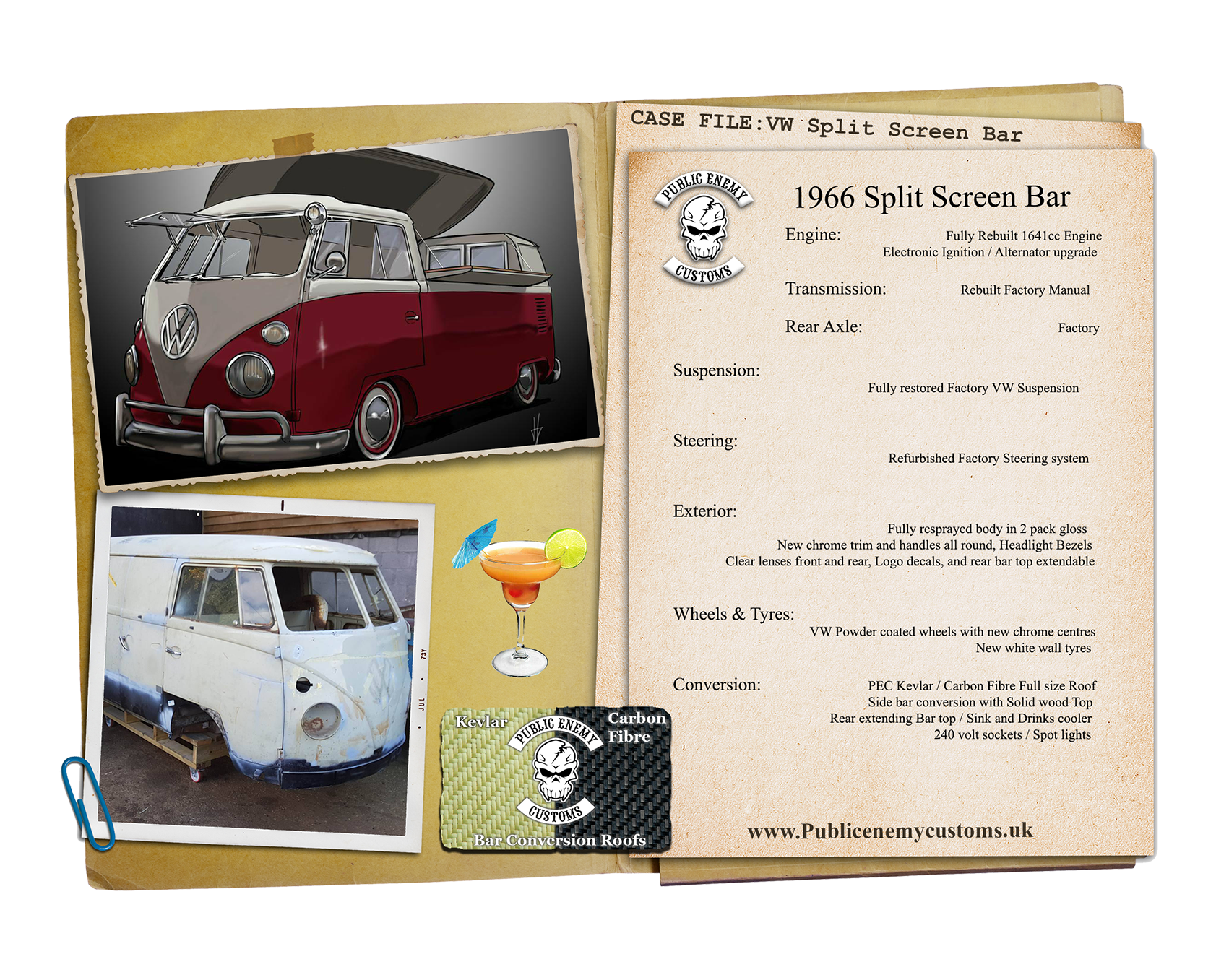 CASE FILE 25 Vw Split screen bar conversion small