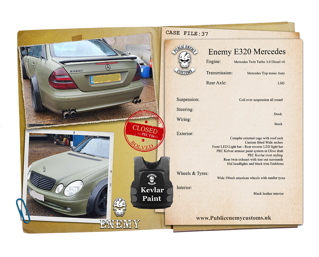 CASE FILE 37 Enemy E320 Mercedes small.p