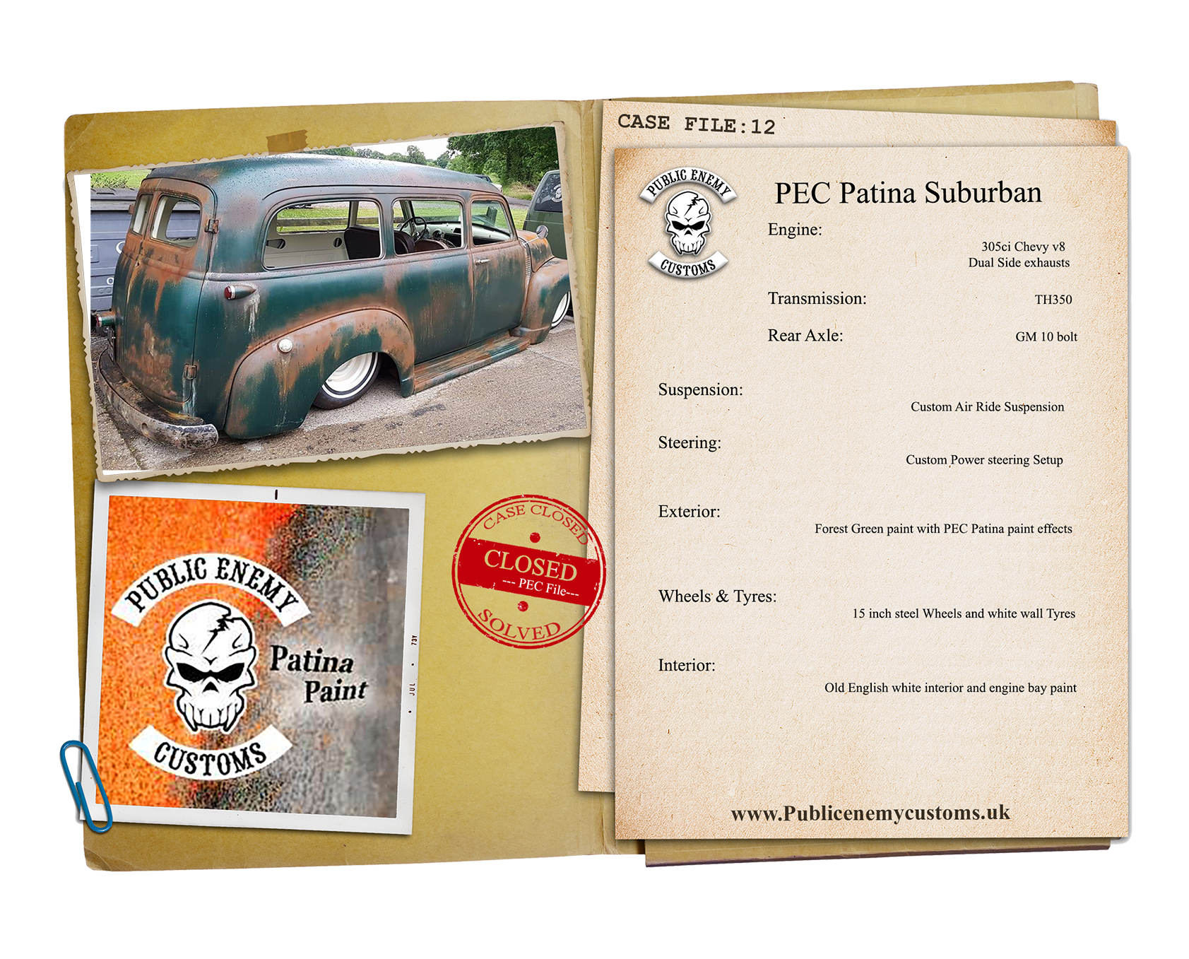 PEC Patina suburban case file small