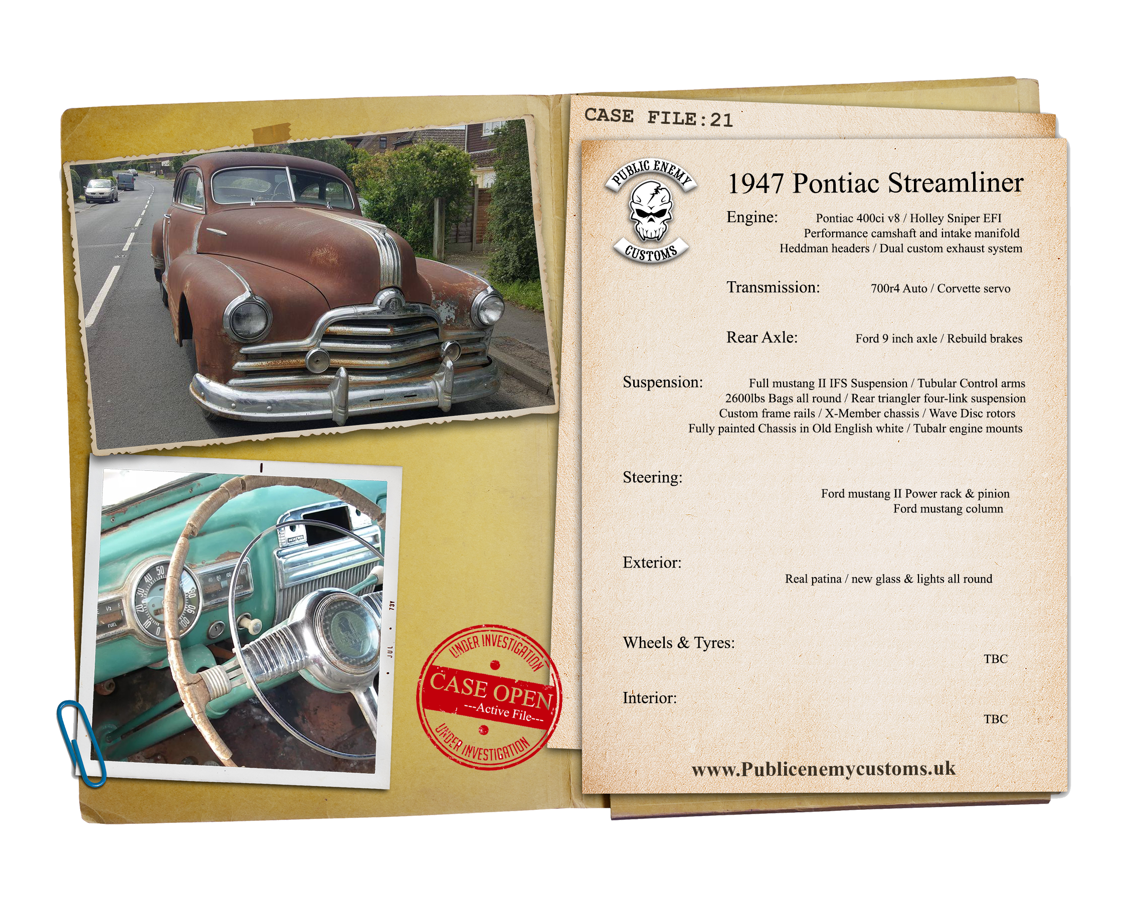 Case File 21 Pontiac 1947 Streamliner