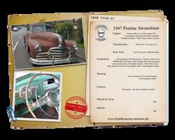 Case File 21 Pontiac 1947 Streamliner