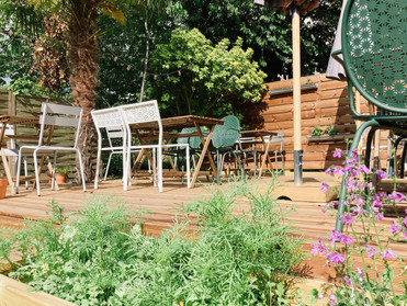 Côté jardin : l'ouverture de notre terrasse
