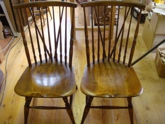 椅子の修理/ウインザーチェア1