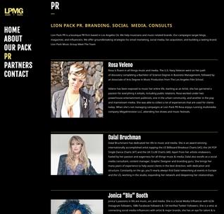 LION PACK PR. BRANDING. SOCIAL  MEDIA. CONSULTS
