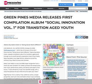 """GREEN PINES MEDIA RELEASES FIRST COMPILATION ALBUM """"SOCIAL INNOVATION VOL. 1"""" FOR TRANSITION AGED YOUTH"""