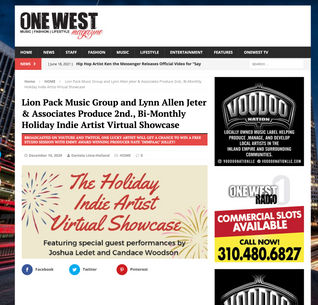 Lion Pack Music Group and Lynn Allen Jeter & Associates Produce 2nd., Bi-Monthly Holiday Indie Artist Virtual Showcase
