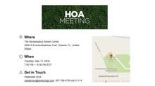 Waterside of Orange County HOA Meeting