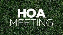 CANCELED  HOA Meeting - February 9, 2016