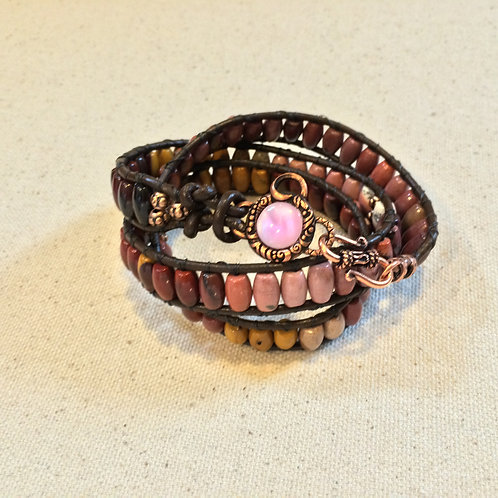 Mookaite Wrap Bracelet