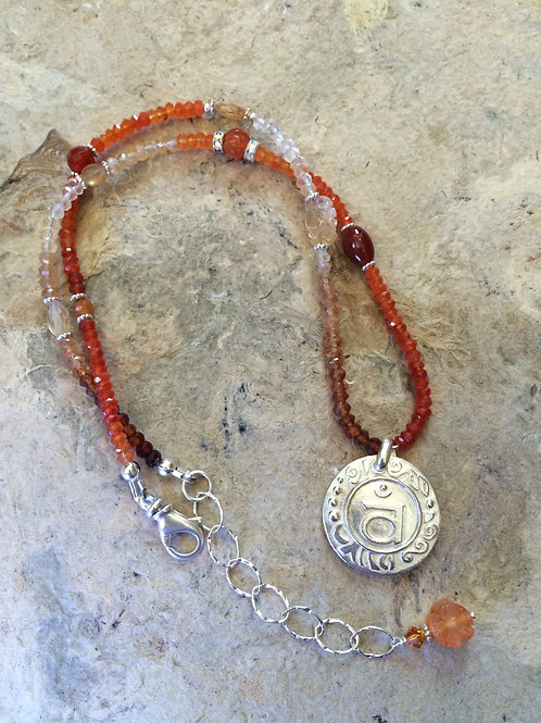 Sacral Chakra Sterling Silver Necklace