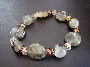Prehnite Gemstone Bracelet on Stretch cord