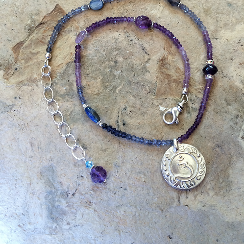 Brow Chakra Sterling Silver Necklace