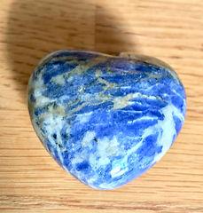 Sodalite 45mm Puffy Heart