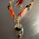 Thumbnail: Prehnite and Carnelian Necklace with Earrings