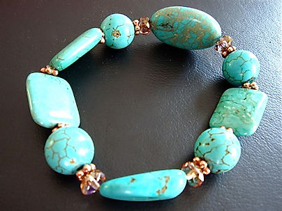Turquoise Bracelet with Chez Crystals
