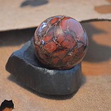 Brecciated Jasper Sphere  on Hematite