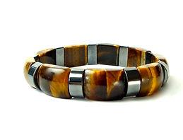 Hematite and Tiger Eye Bracelet