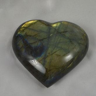 Labradorite Heart Green