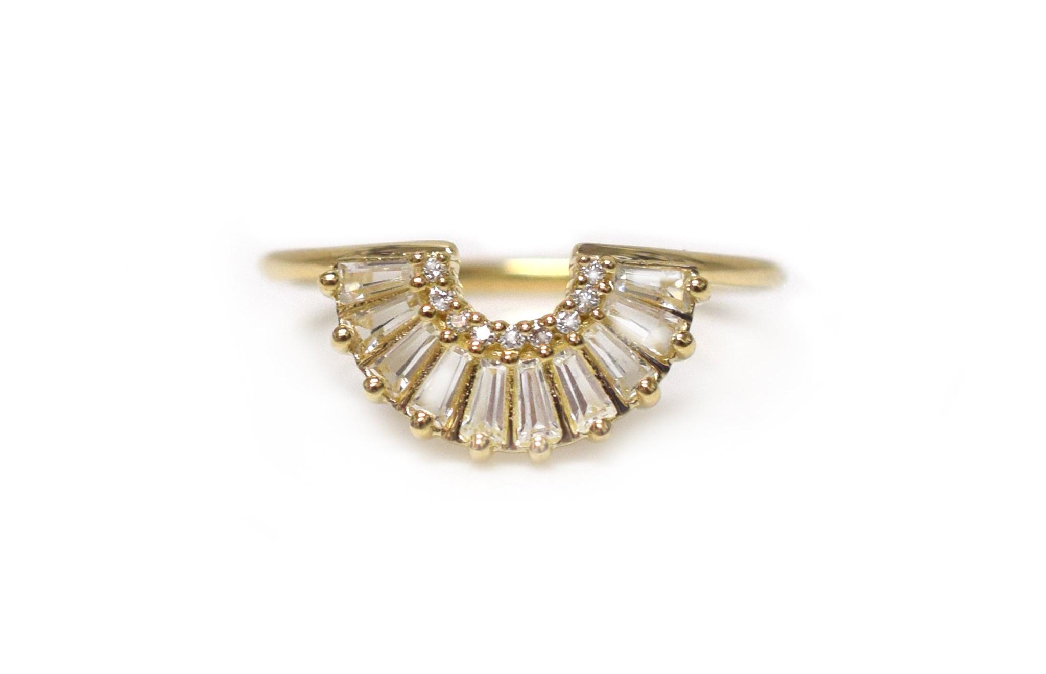 Baguette Arc Ring