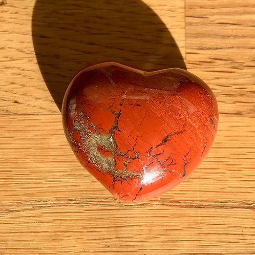 Brecciated Jasper 45mm Puffy Heart