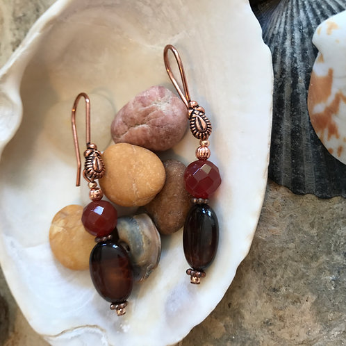 Sacral Chakra Hook Earrings D