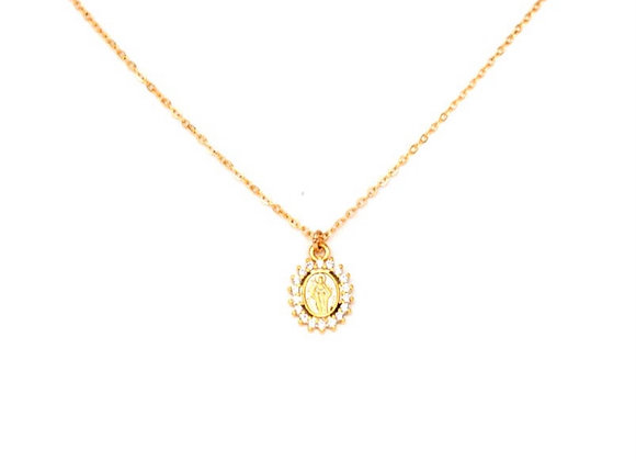 CZ Virgin Mary Necklace