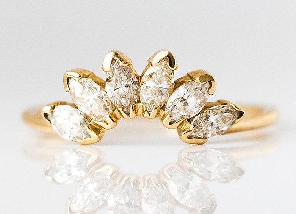 14kt Diamond Caribbean Sunrise Ring