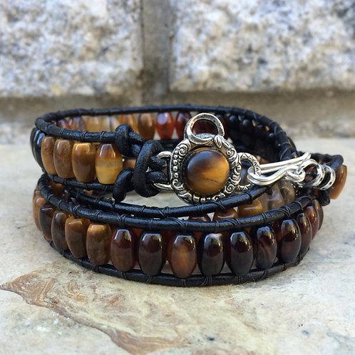 Grounding Wrap Leather Wrap Bracelet