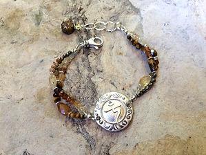Solar Plexus Chakra bracelet with Clasp Citrine and Tiger Eye