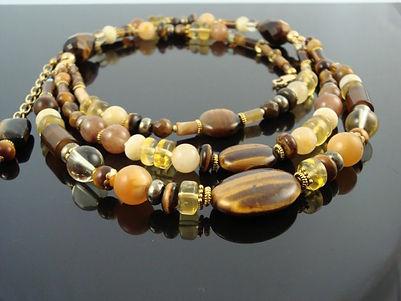 Tiger Eye Large Necklace for Solar Plexus Chakra