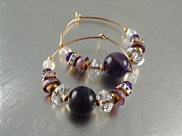 Crown Chakra Earrings Hoops
