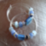 Kyanite Sterling Silver Hoops