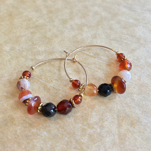Sacral Chakra Hoop Earrings B