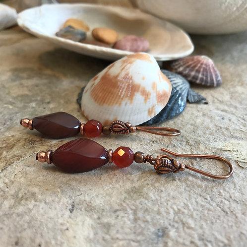 Sacral Chakra Hook Earrings C
