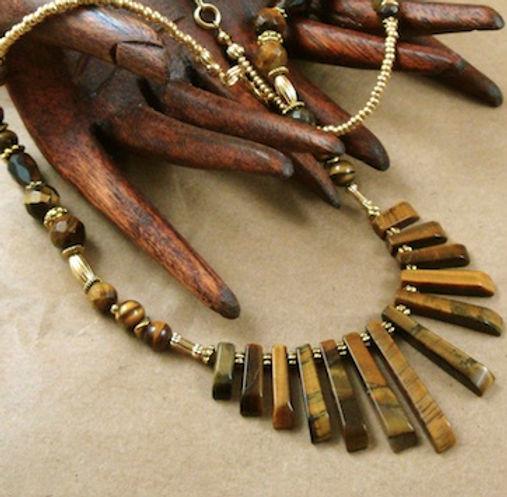Tiger Eye Necklace for the Solar Plexus Chakra
