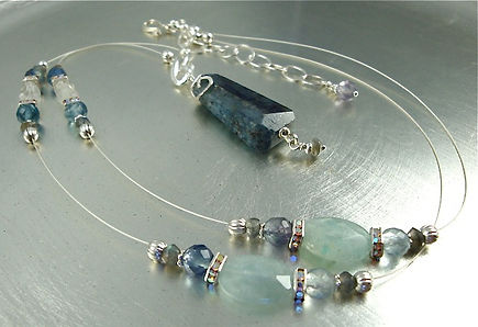 Kyanite Delicate Necklace with Sterling Silver
