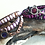 Thumbnail: Purple River Rock Leather Wrap Bracelet
