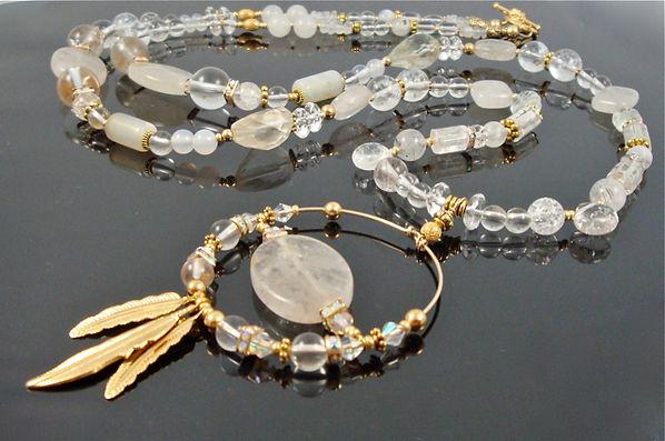 crown chakra necklace Quartz Crystal