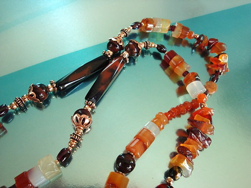 Carnelian Long Necklace